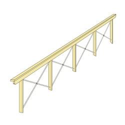 Balustrada lemn cu parama