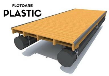 Pontoane Rezistentiale Sistem cu flotoare din plastic